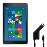 kwmobile 車載チャージャー Micro USB 充電器 Dell Venue 8 Pro 3000用 黒色