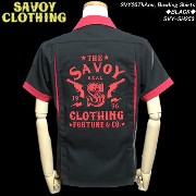 SAVOY CLOTHINGサボイクロージング◆SVY 20ThAnv, Bowling Shirts◆◆BLACK◆SVY-SH253