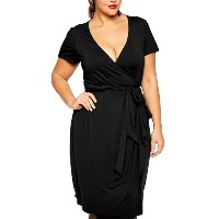 Women's Sexy Mesh Spliced Persective Cocktail Dress Plus Size Black2