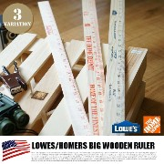 LOWES/HOMERS BIG WOODEN RULER(ロウズ・ホーマーズ ビッグ木製ものさし) from U.S.A 3カラー(ブルー・レッド・オレン...
