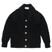 【10P03Dec16】INVERALLAN(インバーアラン)6A Shawl Collar Cardigan Black