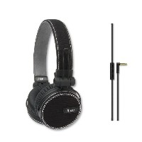 iLuv ReF, ディープ Bass On-Ear Headphones with キャンバス ファブリック Exterior for Apple- Compatible with the iPhone 6, iPhone 5, 5S,...