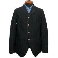 FREEWHEELERS フリーホイーラーズ JACKSON SACK COAT LATE 1800s TAILORED SACK COAT GREAT LAKES GMT.MFG.CO. YARN-DYED DEEP BLACK