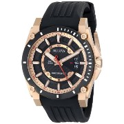 Bulova ブローバ メンズ腕時計 Men's 98B152 Precisionist Rubber Strap Watch