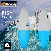 torq(トルク)5'11 Fish Fifty Fifty gray + blue tailエポキシ製ショートボード フィン付き!