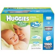 Baby Wipes MEGA PACK Brand New by HUGGIES NATURAL CARE 1160 Total Individual WIPES Special Assortment includes a Stripped Clutch Travel Case with Handle...