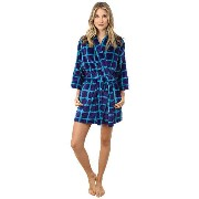 Josie Plaid Plush Robe