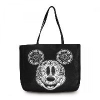 Mickey Mouse White Applique Tote