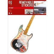Jimi Hendrix - Legendary Guitar - Removable Wall Stickers - 2 Sheets Stickers - 70x50cm