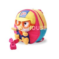 Pororo Toy Character kids Backpack Bag - Pink