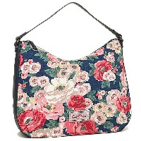 キャスキッドソン バッグ CATH KIDSTON 593403 CANVAS & LEATHER HOBO BAG WORTH BUNCH ハンドバッグ NAVY
