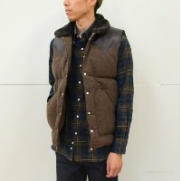Rocky Mountain Featherbed(ロッキーマウンテンフェザーベッド)/ CHRISTY DOWN VEST/TWEED -(150)BROWN-