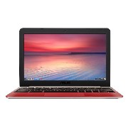 ASUS C201 11.6 Inch Chromebook (Rockchip, 4 GB, 16GB SSD, Lotus Gold/Red)(US Version, Imported)