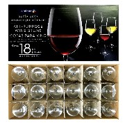 Luminarc ルミナルク ALL-PURPOSE WINE STEMS Party Pack ワイングラス 18個セット 18.8 floz 556ml USA製