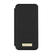 kate spade new york Cell Phone Case for Apple iPhone 7 - Saffiano Black/Gold Logo Plate [並行輸入品]