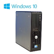 中古パソコン DELL Optiplex 780SF Core2 Duo E8400 3.0GHzメモリ4GB新品SSD120GB DVDマルチドライブ Windows10 Home 64Bit /0462AR/中古