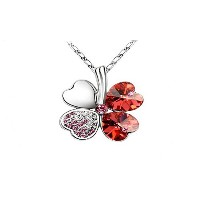 Austrian Crystal Clover Necklaces & Pendants 18k Gold and Silver Jewelry for Women