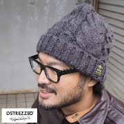 DSTREZZED ディストレス Cable Beanie Heavy Cable Mei DS601036-62 ニット帽 メンズ ニットキャップ ケーブルニット ケーブル...