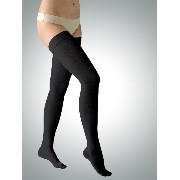 23-32 mmHg Class 2 Graduated Medical COMPRESSION STOCKINGS Closed Toe Thigh High (S, black)