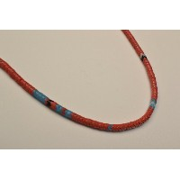 "MIKIA ミキア ""Snake Beads Necklace"" Col.RED"