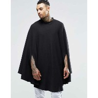ASOS エイソス Loungewear Cape In Waffle Fabric With Funnel Neck