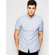 Jack Wills Shirt シャツ with Dobby Pattern Short Sleeves
