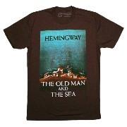 【Out of Print】 Ernest Hemingway / The Old Man and The Sea Tee (Espresso)