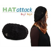 HAT ATTACK ニット 帽 ハット アタック Cable Beret with Knit Tab Buckle レディース 帽子 ジャンルでも注目が高い ニット ...