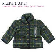 "(9M-24M) POLO by Ralph Lauren ""INFANT GIRL"" Quilted Jacket USラルフローレン (幼児)ベイビーサイズのキルティングジャケット ..."