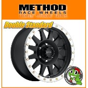 【新品アルミホイール単品1本価格】18インチ【METHOD RACE WHEELS Double Standard 304】18×9.0J 8/170 -12【MatteBlack/Machined Street...