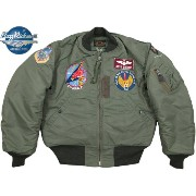 BUZZ RICKSON'S/バズリクソンズ Jacket, Flying, Intermediate Type MA-1 LION UNIFORM INC. 1957 MODEL 492nd Tactical Fighter Sq. 48th Tac. Ftr. Wing...