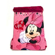 ミニーマウスピンク ナップサック大 /Pink Minnie Mouse Drawstring Backpack - Large Drawsting Bag