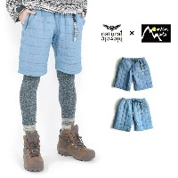 "ナチュラルバイシクル × マウンテンマニア QUILTING SHORT PANTS""Mompe""Natural bicycle / Mountain Mania"