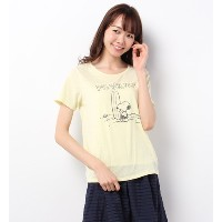 Snoopy☆earthプリントTシャツ【アースミュージックアンドエコロジー/earth music&ecology Tシャツ・カットソー】