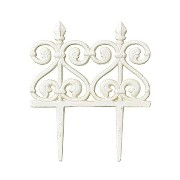 SPICE/FOUNDER MINI FENCE ROCOCO WHITE/HTDY4120WH【04】[2個]《 ガーデニング用品 ガーデン家具 ラティス・フェンス 》