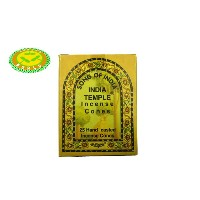 SONG OF INDIA/INDIA TEMPLE INCENSE CONES 25個入り1箱