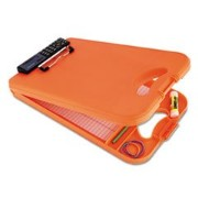 Saunders DeskMate II デスクメイト2 計算機付きクリップボード オレンジ Plastic Storage Clipboard with Calculator, Letter Size 8.5...