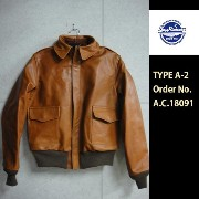 "Buzz Rickson'sホースハイドレザーTYPE A-2 Order No.A.C.18091""BUZZ RICKSIN CLOTHING CO."" BR80411(バズリクソンズ)BuzzRickson's【smtb-k..."