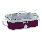 SCCPCCM350-CR Casserole Crock Slow Cooker スロークッカー(3.3L) Crock-Pot社 Cranberry【並行輸入】