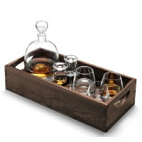 LSA WHISKYISLAY CONNOISSEUR SET&WALNUT TRAY (6点セット)クリア