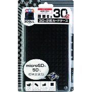 new3DS/new3DSLL/3DS/3DSLL/DS 用カードケース30+2枚 クリアブラック ALG-N3D32B