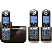 【並行輸入】子機2台付モトローラMotorola DECT 6.0 Cordless Phone with 3 Handsets, Digital Answering System and CustomizableP1003留...
