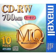 maxell CDRW MQシリーズ CDRW80MQ1P10S CD-RWディスク(700MB/10枚)