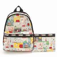 LeSportsac 7812-P687 PEANUTS SNOOPY PATCHWORK/スヌーピーパッチワーク Basic Backpack(ベーシックバックパック)リュックサッ...