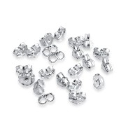925 Sterling Silver Regular Post Earring Backing - Butterfly Back Locks 20pc