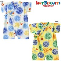 MIKIHOUSE hot biscuits 花火&ビーンズ♪甚平オール☆ :60〜80cm:72-7504-975
