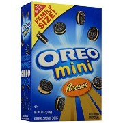 Oreo Sandwich Cookie, Mini Bite Size - Reese's Peanut Butter - 13.00 Ounces, Family Size by Oreo [並行輸入品]