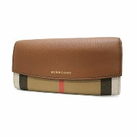 【送料無料】BURBERRY バーバリー 3975329 ALS ELMORE HHL COCA HOUSE CHECK HORSESHOE LEATHER PORTER CONTINENTALEL WALLET 長財布