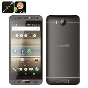 VKworld VK800X Android Smartphone - 5 Inch IPS Display, Android 5.1, Quad Core CPU, Smart Wake, Dual SIM, 2200mAh simフリー グレー [並行輸...