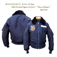 """BUZZ RICKSON'SバズリクソンズB-15C A.F.Blue428th Tactical Fighter Sq.Det-1""""Harvest Reaper"""" 2015年生産BR13339-15AWフライトジャケ..."""